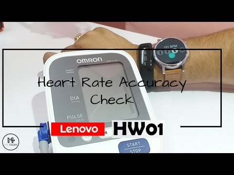 Lenovo Fitness Tracker HW01 - Heart Rate Accuracy Check Ft. Moto 360 2nd Gen