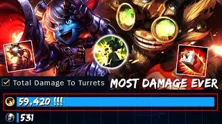 ANTI TOWER BOT   TOOK EVERY TOWER THIS GAME ! [ NO CLICKBAIT ] TRISTANA + ZIGGS IS AN OP COMBO !