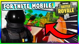 FIRST EVER GAMEPLAY OF FORTNITE Battle Royale MOBILE 2018 (Release Date, How To Get Invite Codes)