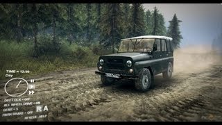 SpinTires UAZ Gameplay [ PC HD ]