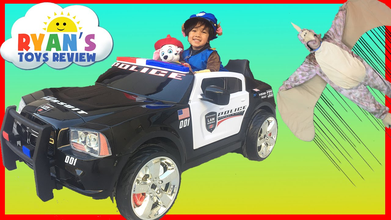 Police Car Power Wheels Ride-On For Kids With Paw Patrol