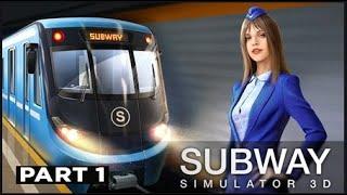 Subway Simulator 3D   Metro Train Driver part 1 screenshot 1