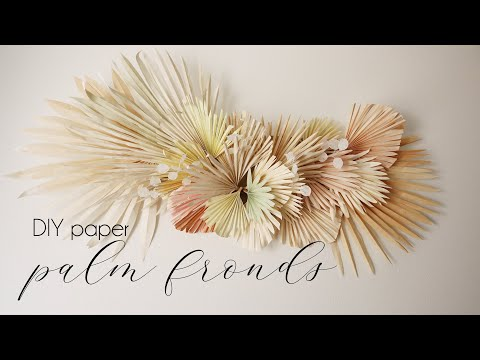 DIY Paper Palm Fronds