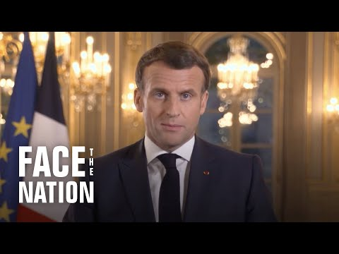 "French President Emmanuel Macron says international community must draw ""clear red lines"" with Ru…"