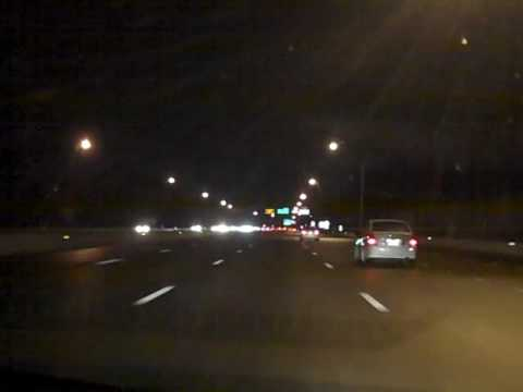 I-264 West to I-64 West; Virginia Beach, Norfolk, and Hampton (Night)