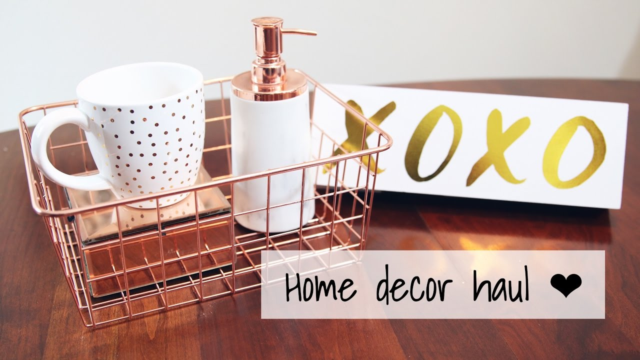 rose gold copper collective home decor haul vday 2017 homegoods marshalls target walmart - Walmart Home Decor