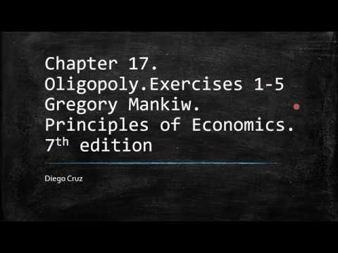 Chapter 17.  Exercises 1-5. Principles of Economics