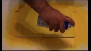 Pintando Notebook con PLÁSTICO EN AEROSOL
