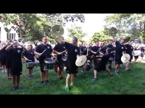 Ohio University Marching 110 on College Green - 8/23/2015