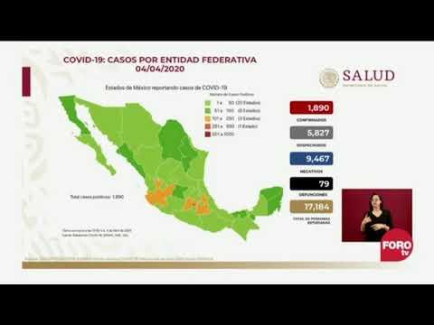 79 Muertes Y 1890 Casos En Mexico Por Coronavirus Al 4 De Abril De 2020