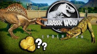 Jurassic World Evolution - GIGANOTOSAURUS BATTLE!! - Mutated Giga VS Spino, Giga Unlock! - Gameplay