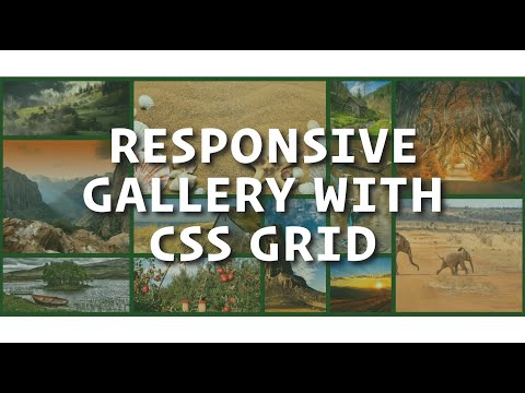 Responsive Gallery With CSS Grid / How To Create CSS Grid Gallery