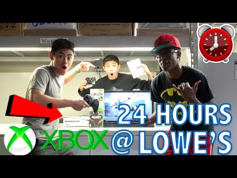 24 HOUR OVERNIGHT CHALLENGE IN LOWES!! WITH AN XBOX!!