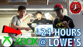 24 HOUR OVERNIGHT CHALLENGE IN LOWE'S!! (WITH AN XBOX)!!