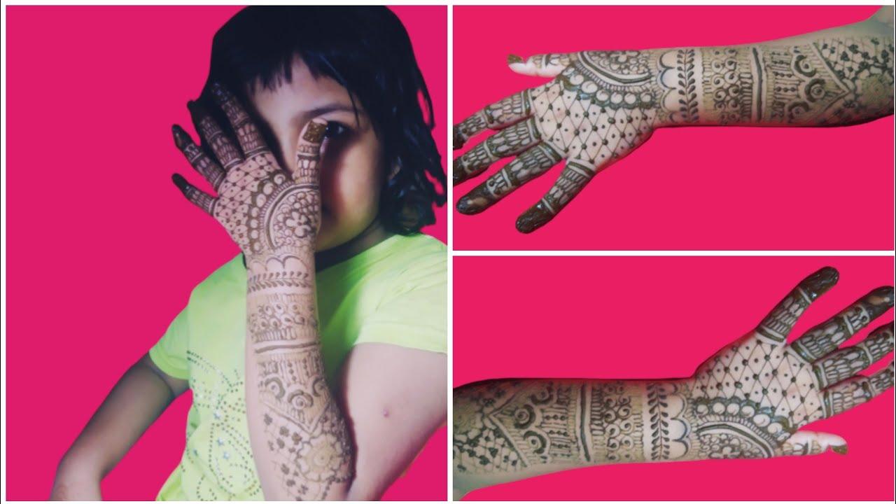 Full Hand Mehendi Design for kids - Bharva Mehndi Design for kids - easy simple Henna designs