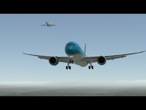 Flight Simulators broadcast. Vietnam Airlines Boeing-787-9/Takeoff From Palm Springs IntI Airport.