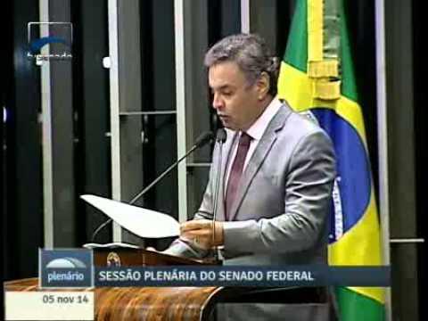 Aécio Neves faz seu primeiro discurso em Plenário após a campanha eleitoral