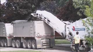 Video still for Road milling with a RoadTec RX 700