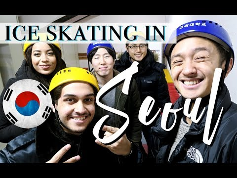 Korea University, City Hall & Lotte World | ICE SKATING IN SEOUL