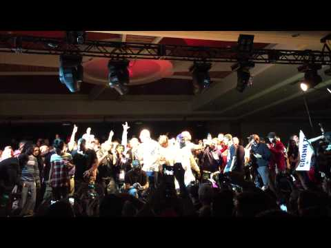 Rick Ross - Gronkowski dancing at Super Bowl 49 after party