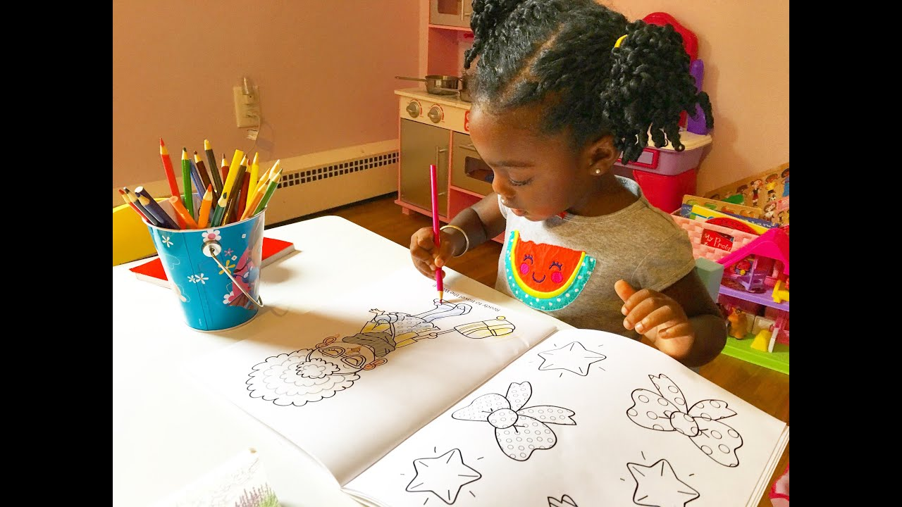 Toddler Coloring In Kids Coloring Book - YouTube | coloring pages for toddlers