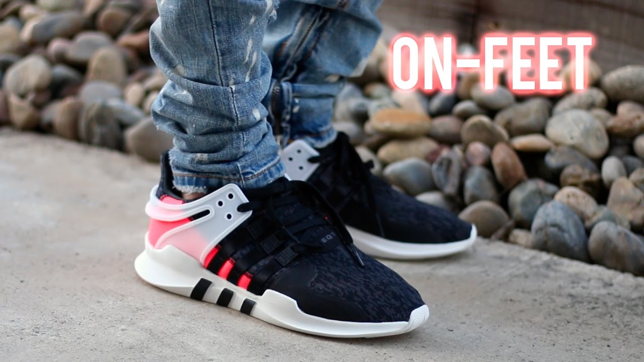 online store 3fe41 8d8df ADIDAS EQT SUPPORT ADV  TURBO PINK   ON-FEET+REVIEW  - YouTube