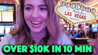 LUCKIEST Las Vegas Morning! MASSIVE HANDPAY JACKPOT Back to Back on Lightning Link!
