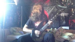 amon amarth- death in fire guitar cover