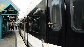 new jersey transit tonnelle avenue bound hudson bergen light rail train lincoln harbor