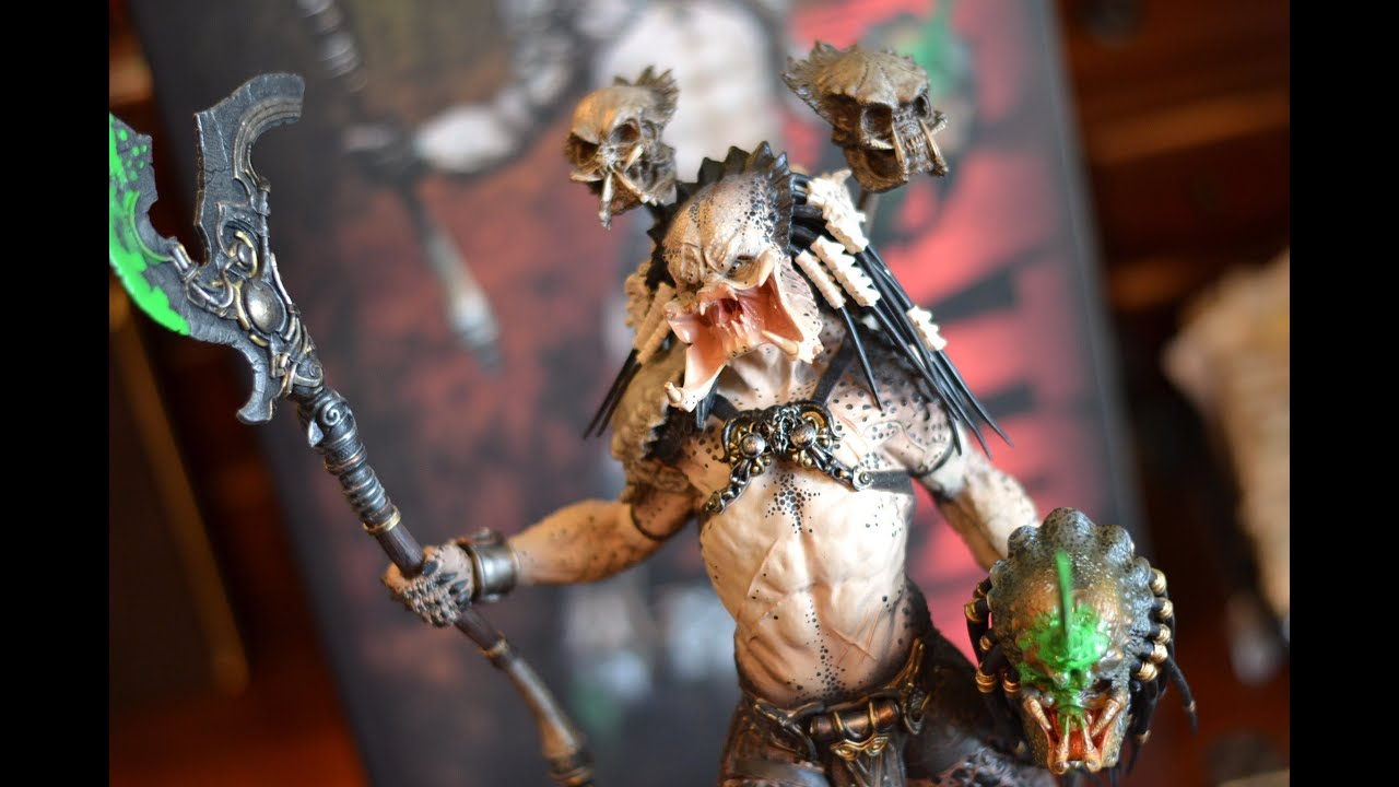 Sideshow Narin PREDATOR BAD BLOOD STATUE unboxing & review! AVP! kit! 12