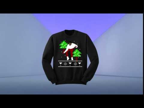 Ugly Drake Christmas Sweater 1-800 Hotline Bling UNISEX 1-800-hotlinebling Black Hoodie