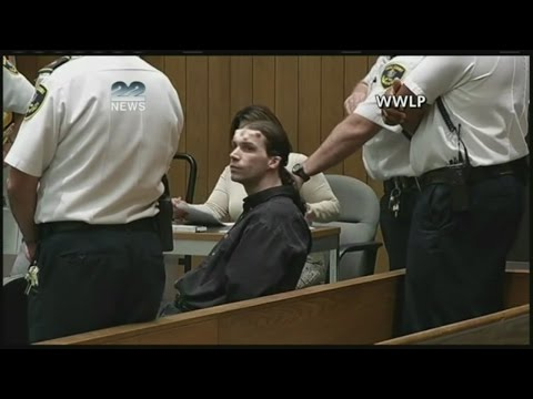triple murder suspect with horns and 666 tattoo in court