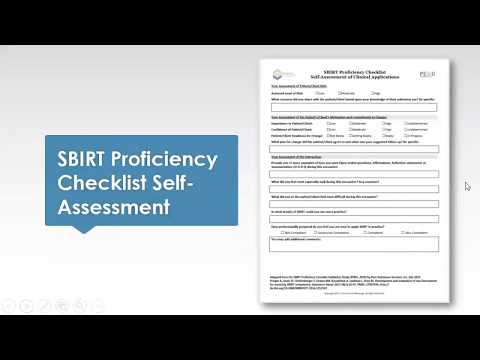Sept 4 2019 Learning Community Session: SBIRT Proficiency Checklist/Fidelity Monitoring