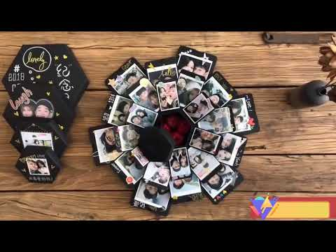 VEESUN Explosion Box with 6 Faces, Surprise Gift Box, Birthday Gift for Friend Women Mom