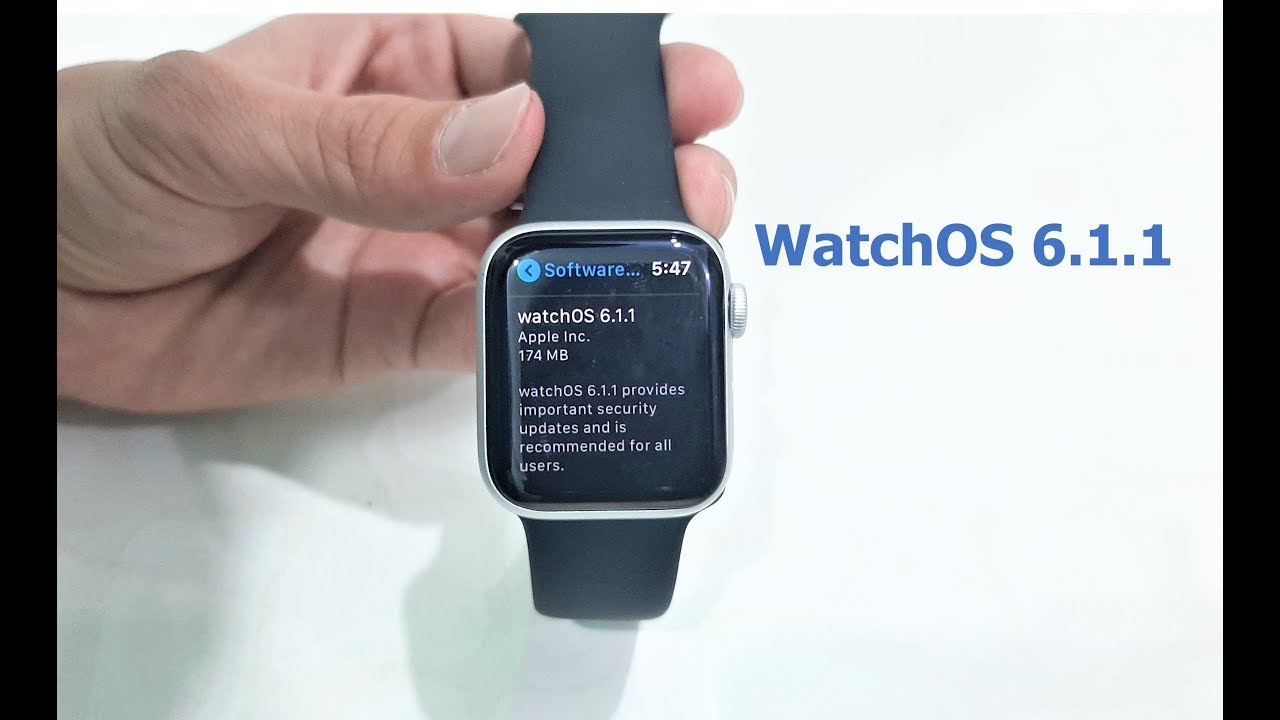 WatchOS 6.1.1 Update Available for Apple Watches - YouTube