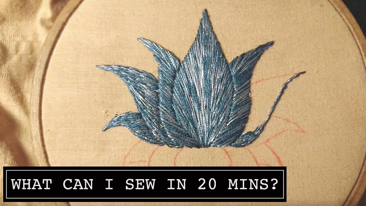 Day 7 What Can I Sew In 20 Minutes Lotus Flower Online Hand