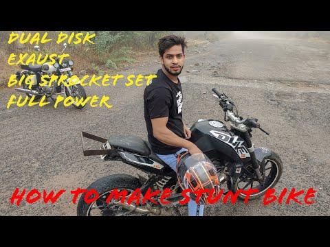 HOW TO MAKE STUNT BIKE. kTm Duke 200 modified into stunt bike. Rs.5000 only