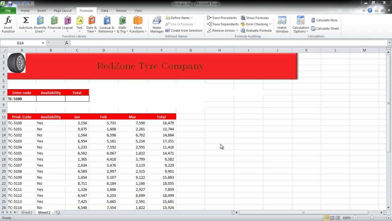 How to Create lookup tables in Excel - YouTube