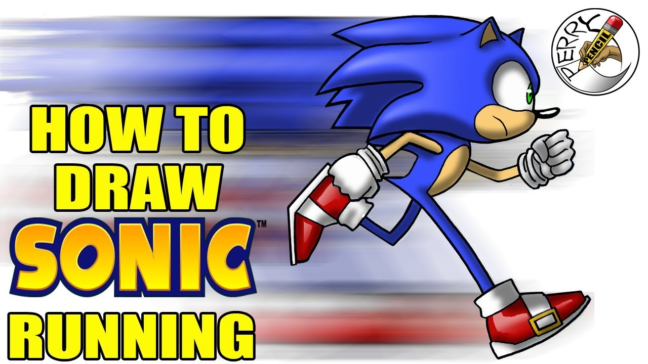 How To Draw Sonic Running Youtube