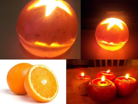 إصنع شمعة رائعة من البرتقال او الليمون في دقيقة