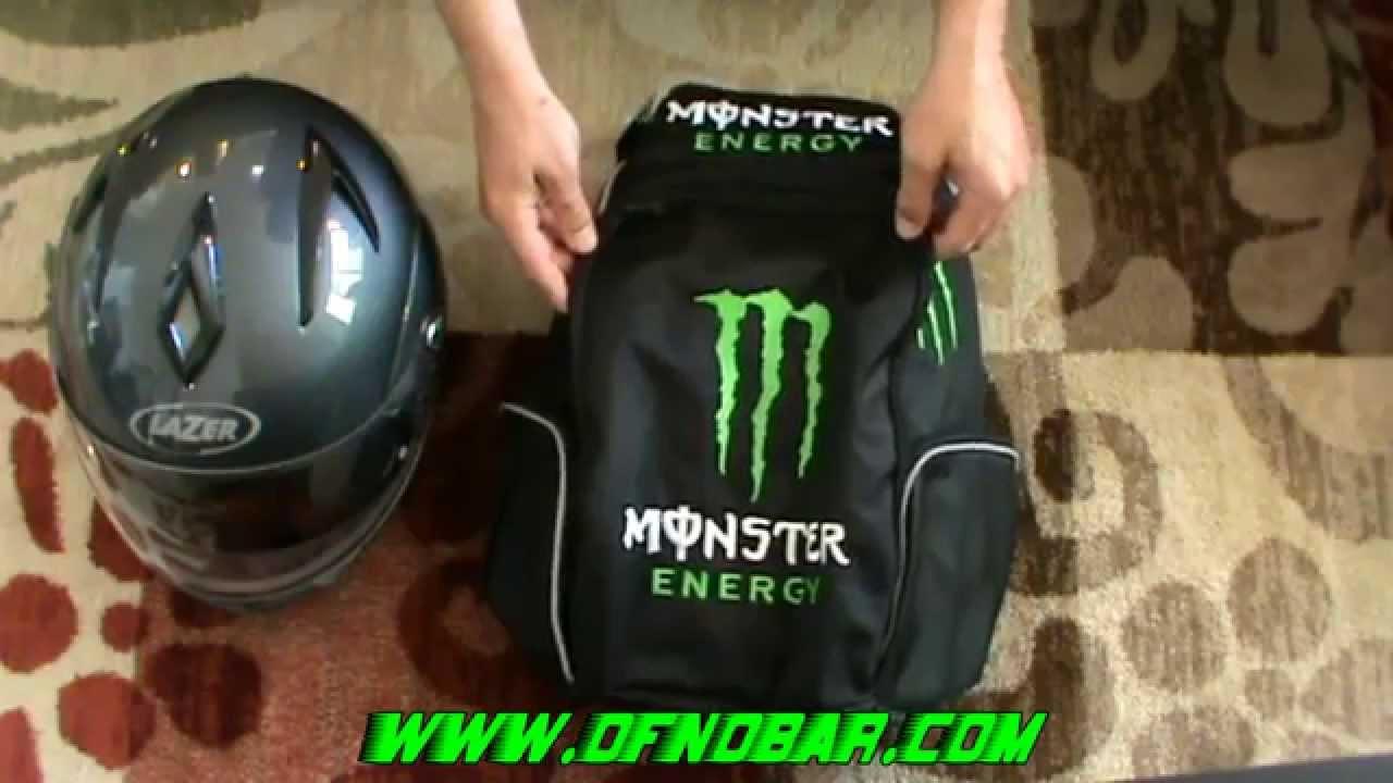 SQ Motorcycle Monster Energy Helmet Carry Apparel Gear Backpack ...
