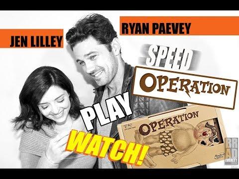 Jen Lilley & Ryan Paevey play SPEED Operation!