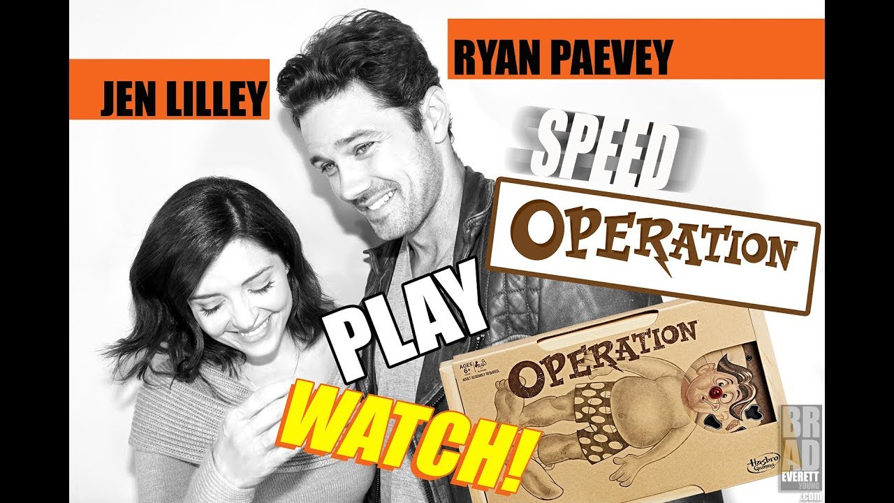 jen lilley ryan paevey play speed operation youtube. Black Bedroom Furniture Sets. Home Design Ideas