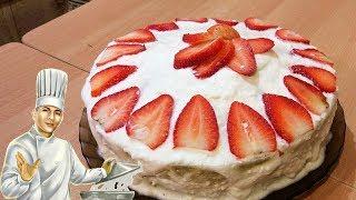 Торт на сгущёнке - вкусный, быстрый и простой торт