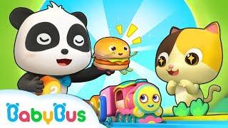 칙칙폭폭 기차 달려요~|케이크 사탕 도넛 동요|베이비버스 인기동요동화 모음|BabyBus