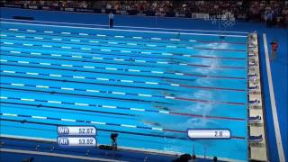 Margo Geer 2012 Olympic Trials 100M Free Semifinals