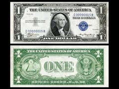 silver certificate dollar bill video - YouTube