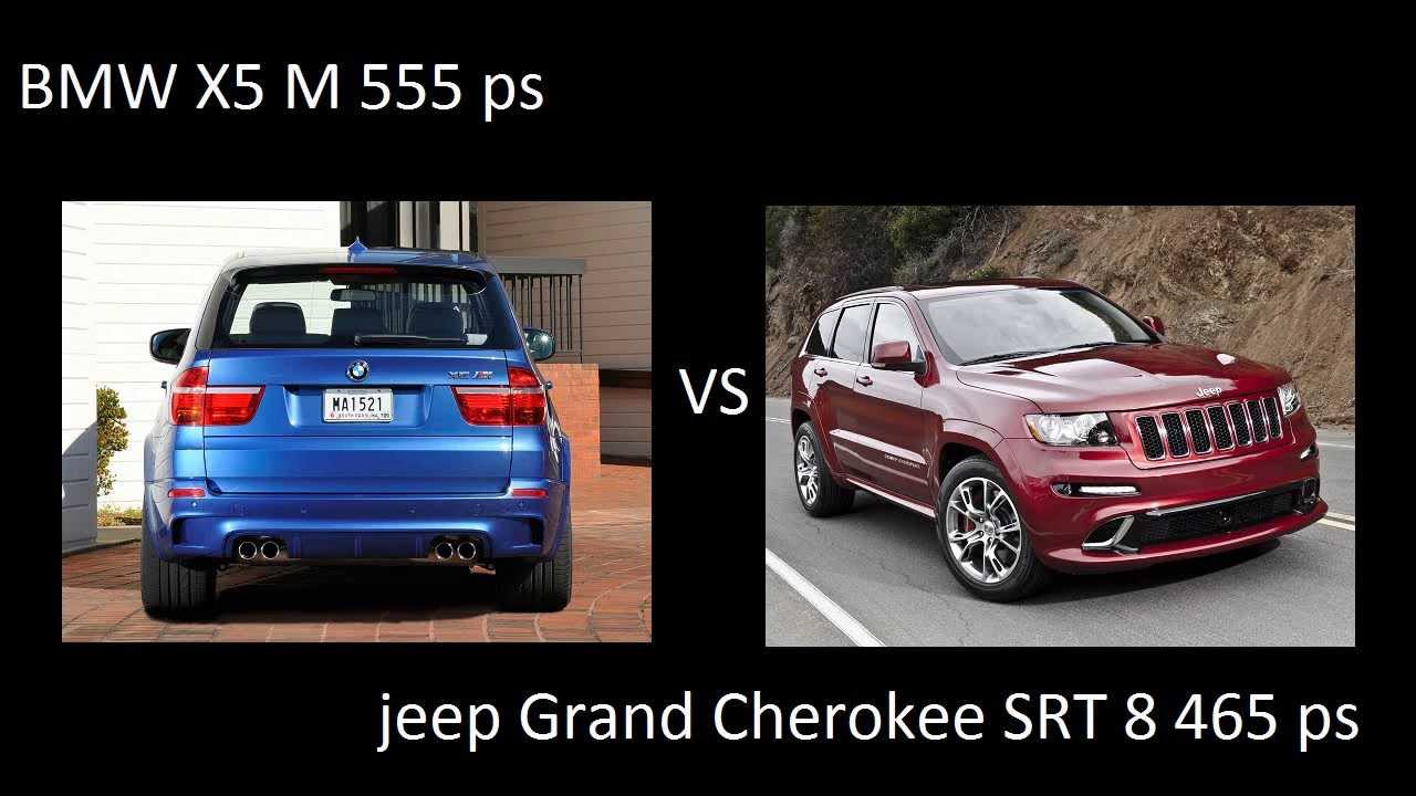 bmw x5 m 555 ps vs jeep grand cherokee srt 8 2012 465 ps drag acceleration. Black Bedroom Furniture Sets. Home Design Ideas