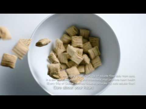 Quaker Oatmeal Squares' dietary fiber 2016 CM [HD]
