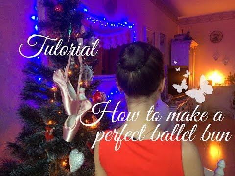 КАК СДЕЛАТЬ АККУРАТНУЮ БАЛЕТНУЮ КИЧКУ/ How to make a perfect ballet bun